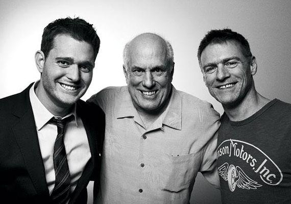 L-R: Michael Bublé, Bruce Allen and Bryan Adams