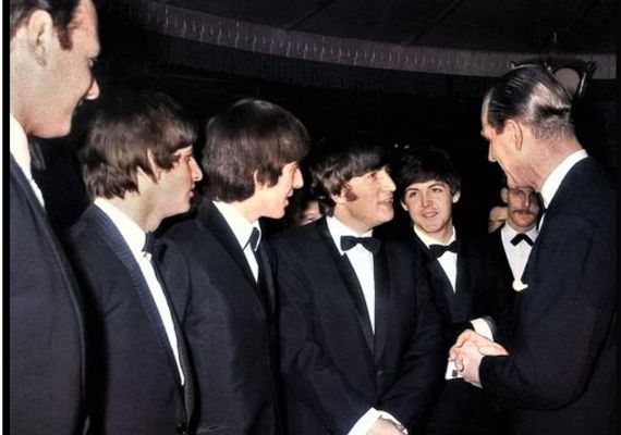 Rest in peace Prince Philip. With Brian Epstein with the Fab Four.