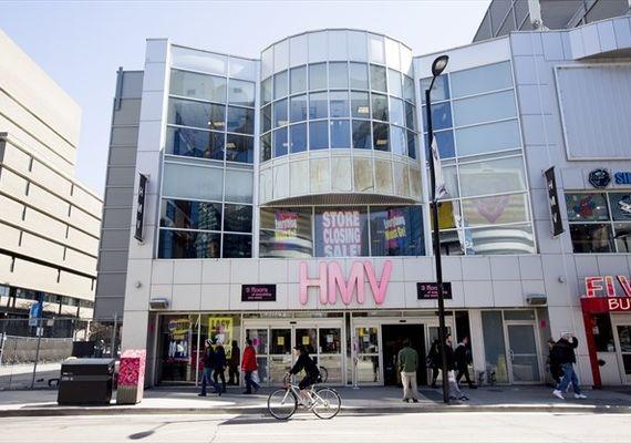 The former HMV store on Yonge St. in Toronto