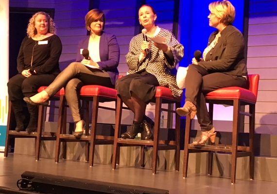 Keely Kemp, Vanessa Vidas, Catherine Tait and moderator Amy Terrill