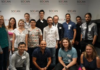2016 Fred Sherratt Award recipients visit SOCAN. Photo courtesy MusiCounts.