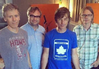 Pictured l-r: Craig Northey, Steven Page, Chris Murphy, Moe Berg