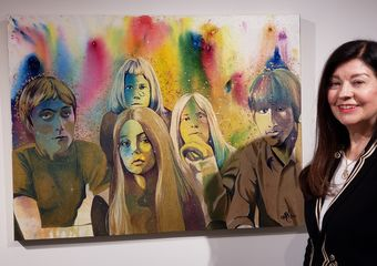 Lynda Squires-Davies with Painting of Reign Ghost_by Monique Ra Brent