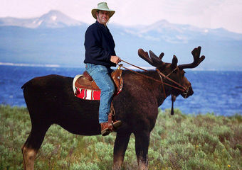 Canada Day mooseback riding