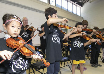 Strings Across The Sky students  Photo: Barry Roden