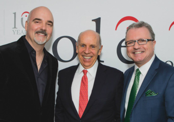 ole Chairman/CEO Robert Ott; Ron Mock, President/CEO of the Ontario Teachers' Pension Fund and ole VP, Corporate Affairs and Development Gilles Godard