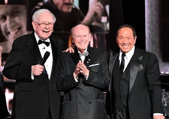 "Warren Buffett, Jimmy Pattison and Paul Anka at the 2018 Canada's Walk of Fame Awards (after Paul and Warren surprised Jimmy with a version of ""My Way""), (Photo credit: George Pimentel)"