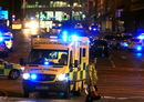 Police cordon off exit roads from Manchester Arena