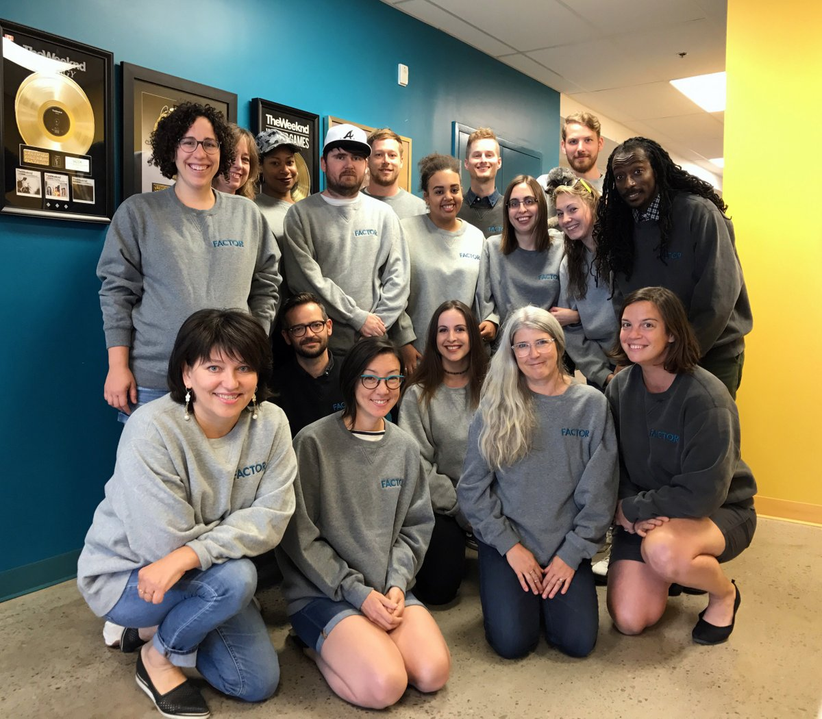 Found on Twitter yesterday: The FACTOR crew sporting their new fall pullovers